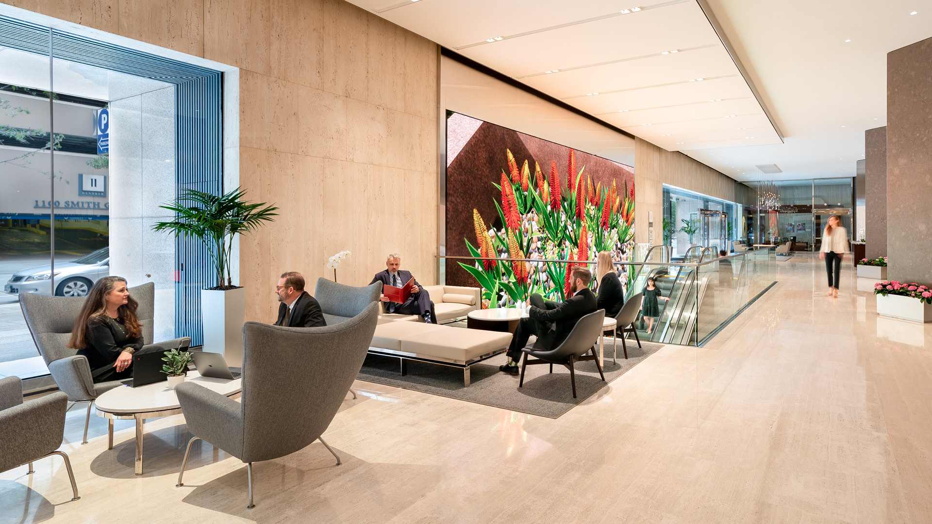 The 1100 Experience, Living Wall Content